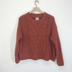 Billabong Cable Knit Sweater Size Small